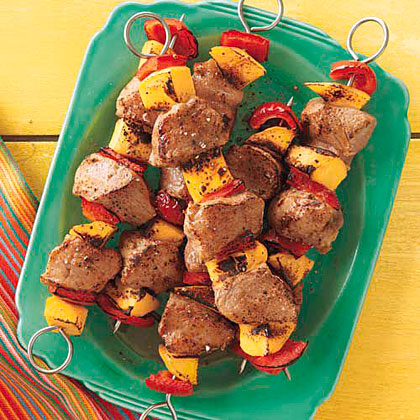 Pork and Mango Kebabs