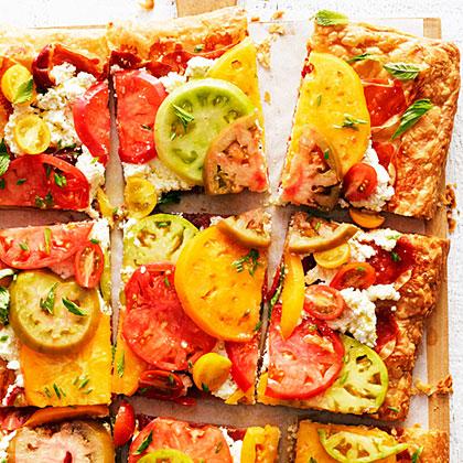 Tomato Prosciutto And Ricotta Tart Recipe Myrecipes
