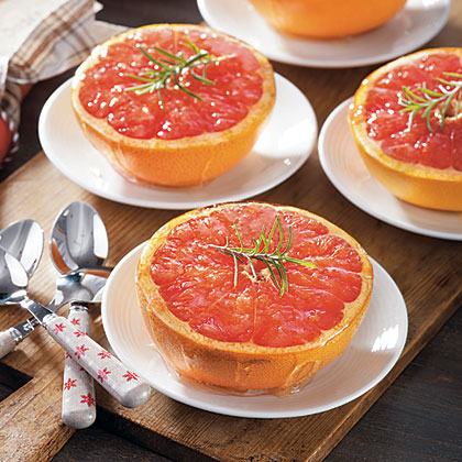 Honey-Rosemary Broiled Grapefruit