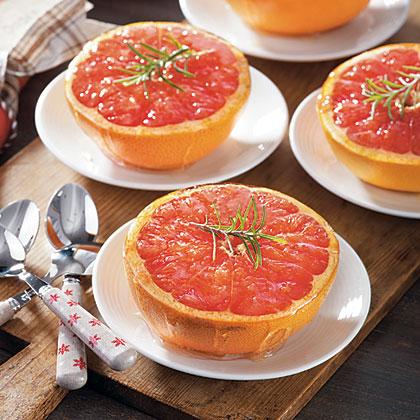 Honey-Rosemary Broiled Grapefruit