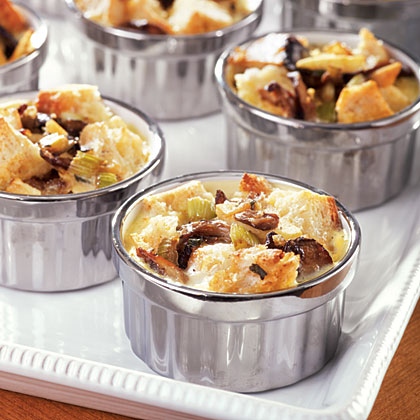 Savory Bread Pudding with Sage, Mushrooms, and Apple