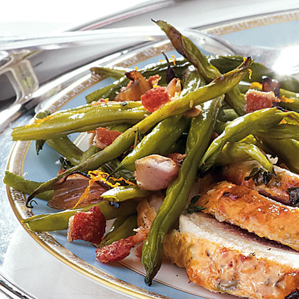 Sweet and Savory Roasted Green Beans