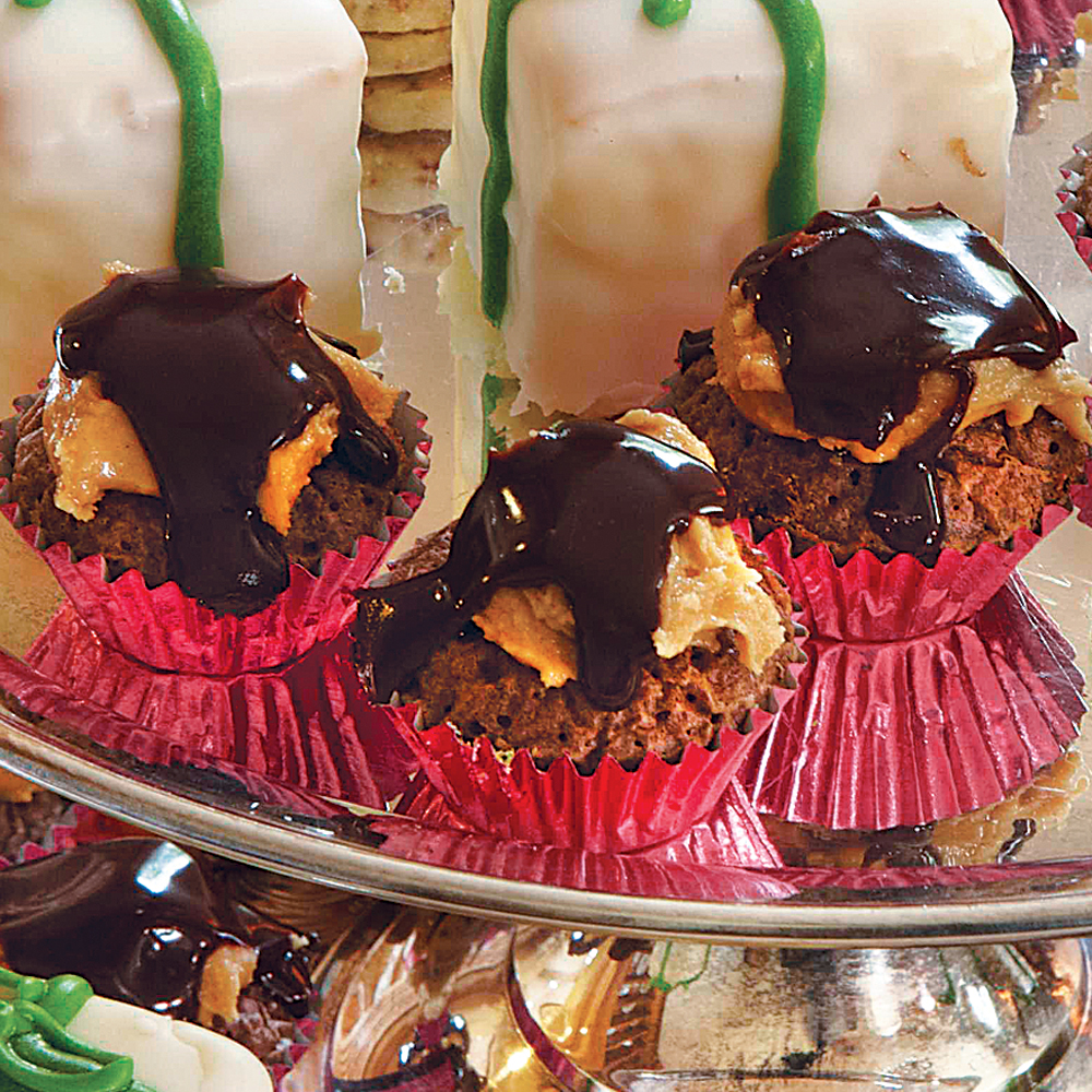 Buckeye Brownie Cups