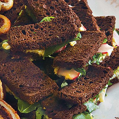 Pumpernickel Tea Sandwiches