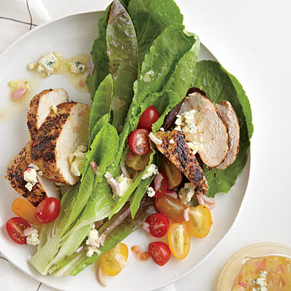 Blackened Chicken Salad with Blue Cheese Vinaigrette