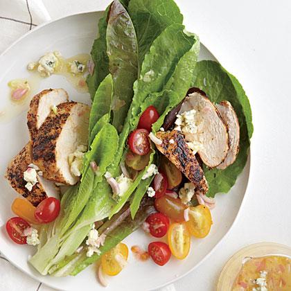 Blackened Chicken Salad with Blue Cheese Vinaigrette