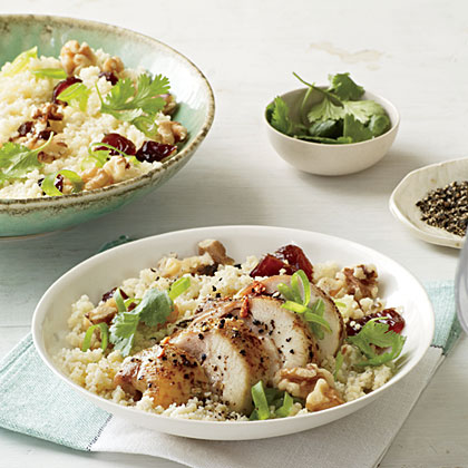 Couscous Salad with Chicken, Dates, and Walnuts Recipe