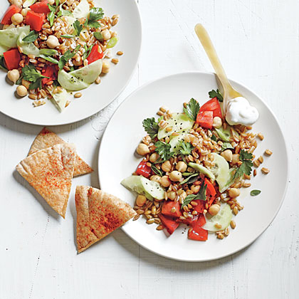 Farro Salad with Creamy Feta