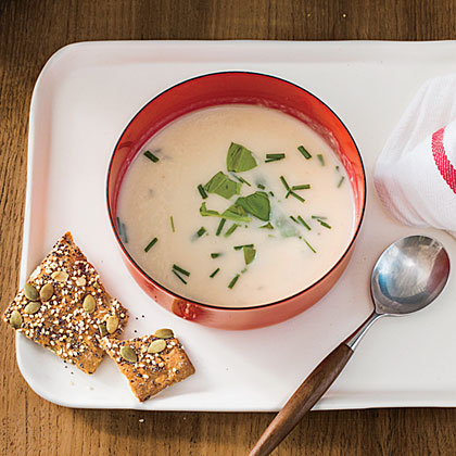 Herbed Parmesan Potato Soup Recipe