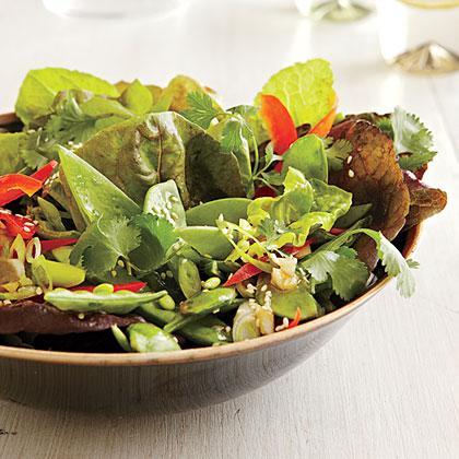 Mixed Greens Salad with Hoisin-Sesame Vinaigrette Recipe