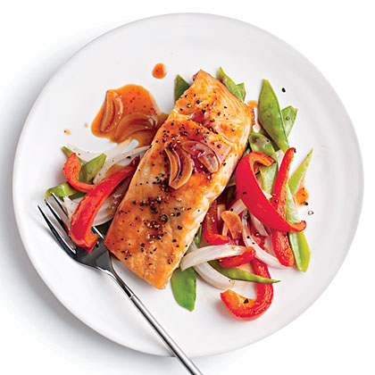 Quick Broiled Salmon with Vegetables Recipe