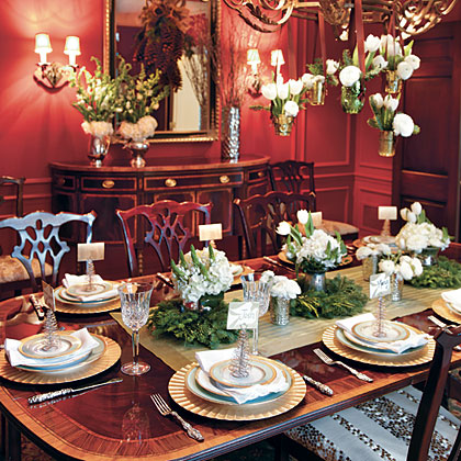 Christmas Table Settings.Christmas Table Settings Myrecipes