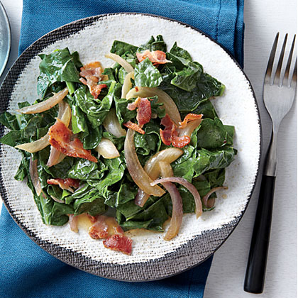 Wilted Kale with Bacon and Vinegar Recipe