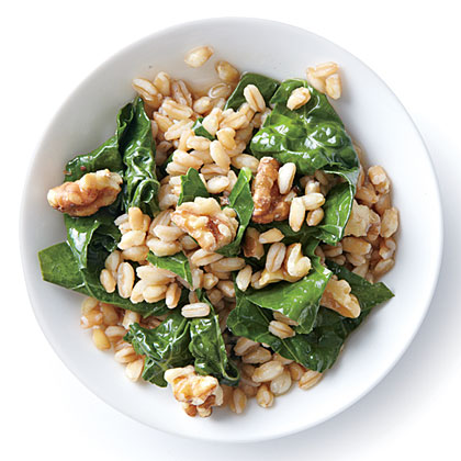 Wilted Kale with Farro and WalnutsRecipe