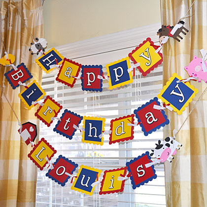 Hang the Birthday Sign