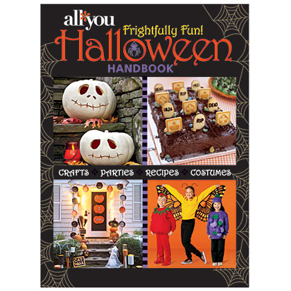 This frightfully fun handbook has all of the crafts, parties, recipes, and costumes you need for a hauntingly-good Halloween.Click to order:All You Frightfully Fun Halloween Handbook