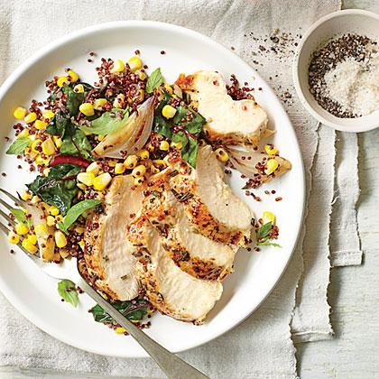Rosemary Chicken with Corn Quinoa