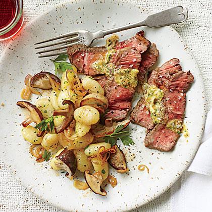 Steak with Mushroom Gnocchi