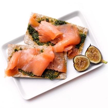 Lox on Crispbreads
