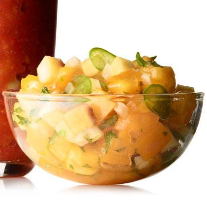 <p>Peach-Tomato Salsa</p>