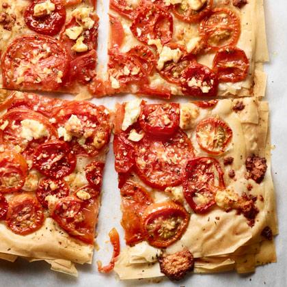 Tomato-Phyllo Tart