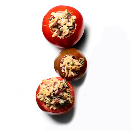 <p>Tuna-Stuffed Tomatoes</p>