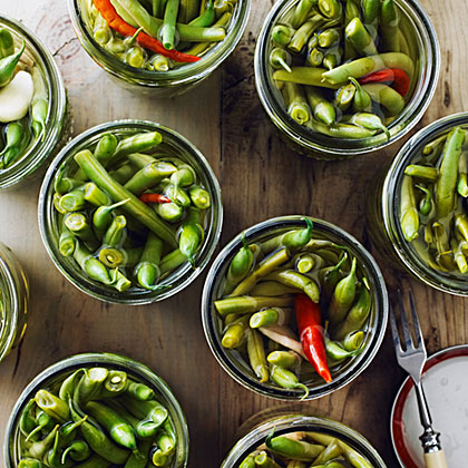 Ginger and Chile Pickled Green Beans Recipe