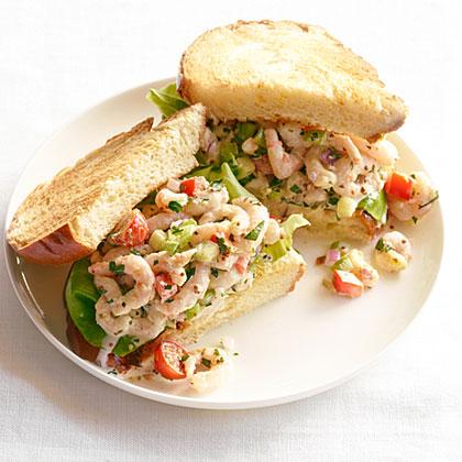 Shrimp  Louis  Sandwiches