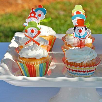 Circus Party Clown Cupcake