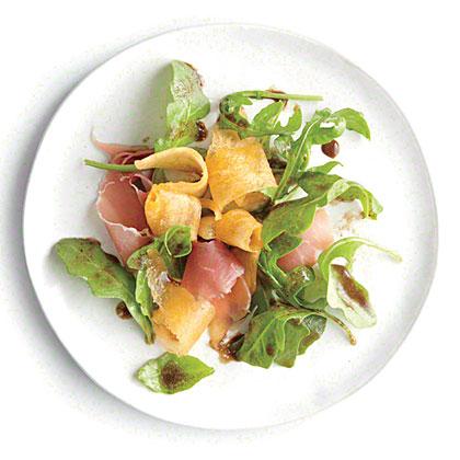 Arugula Salad with Melon and Prosciutto