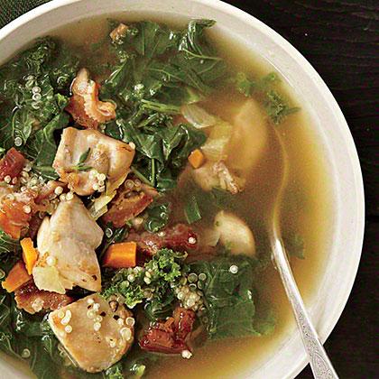 Chicken, Kale, and Quinoa Soup Recipe