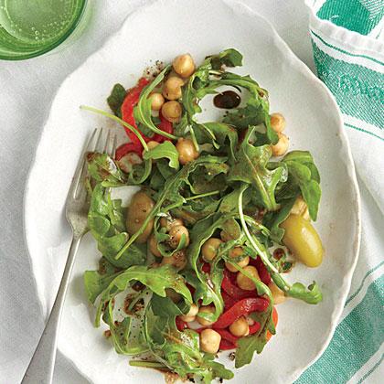 Chickpea, Red Pepper, and Arugula Salad Recipe