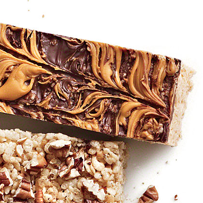 Chocolate-Butterscotch Chewy Crispy Bars