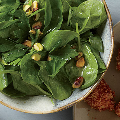 Quick Parsley-Spinach Salad