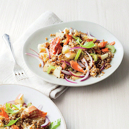 Smoked Salmon and Wheat Berry Salad