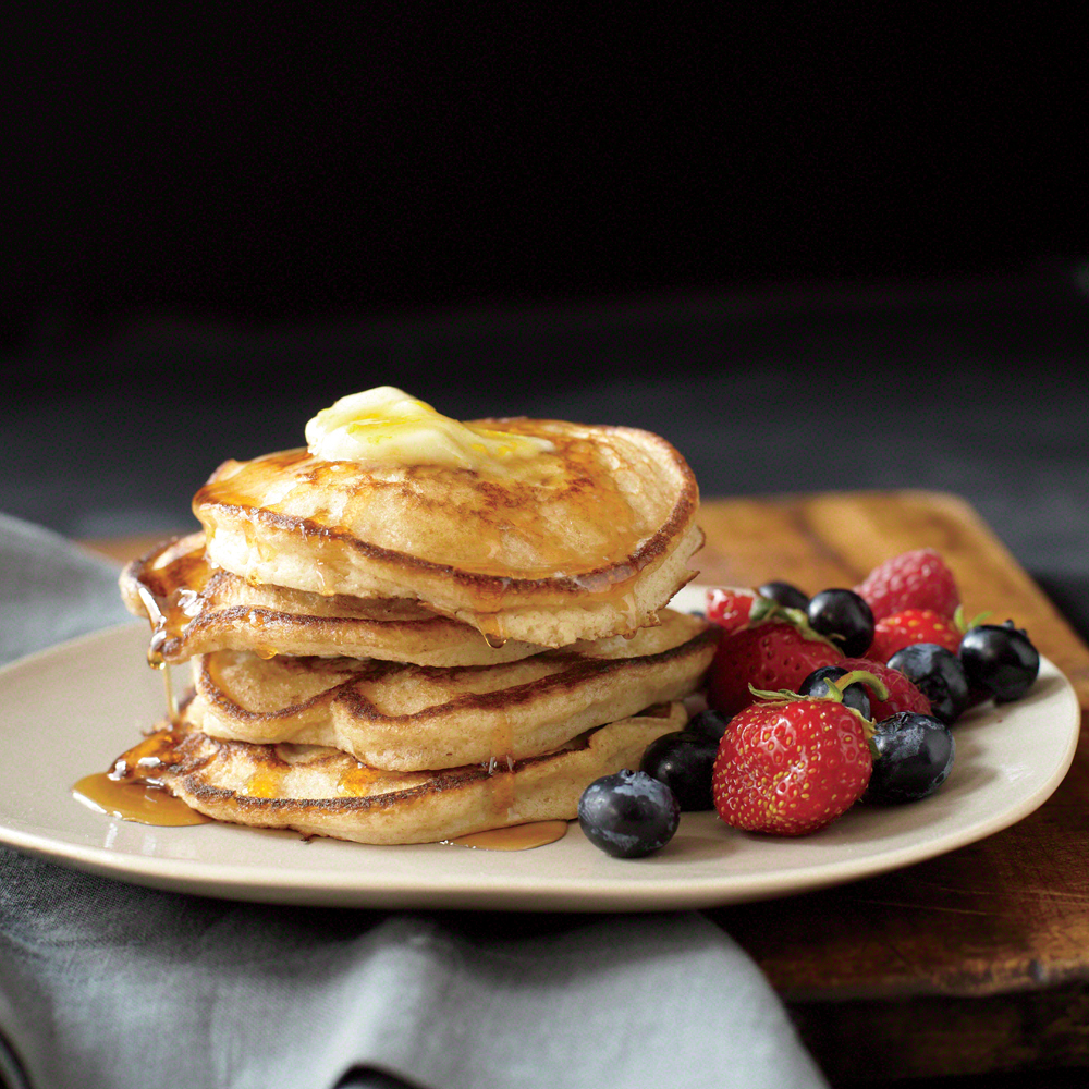 Whole-Wheat, Buttermilk, and Orange Pancakes Recipe