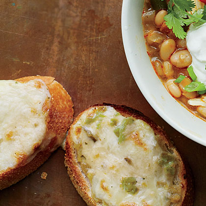 Green Chile Cheese Toast