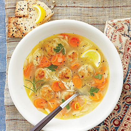 Lemon, Orzo, and Meatball Soup Recipe