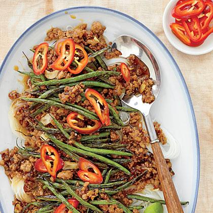 Pork-and-Green Bean Stir-Fry