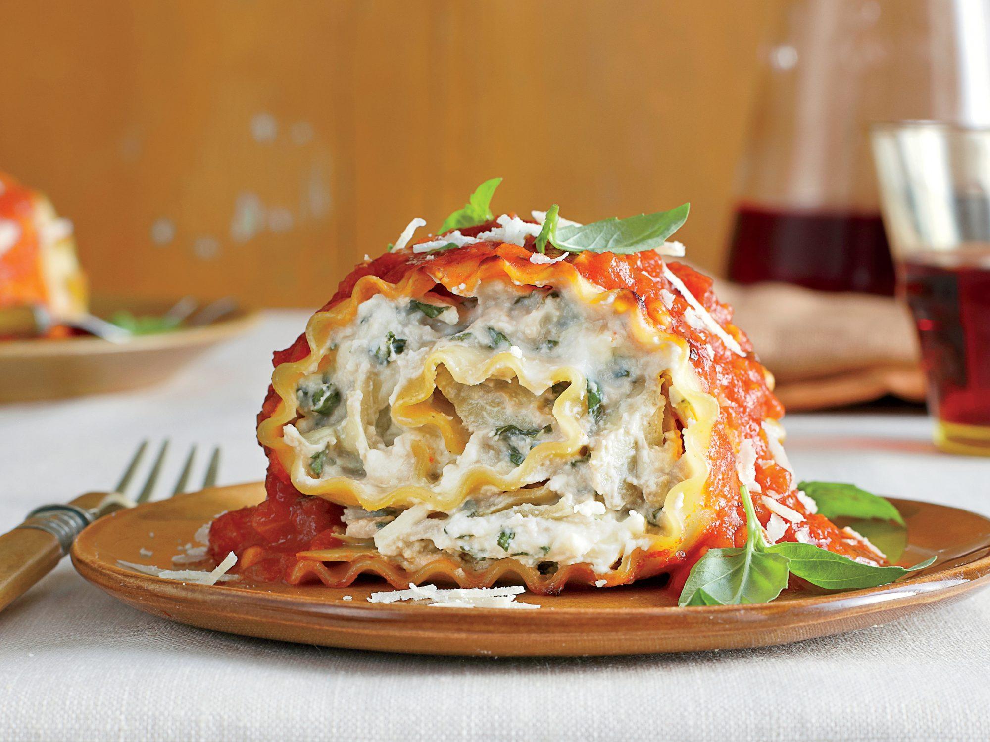 tomato basil lasagna rolls recipe myrecipes