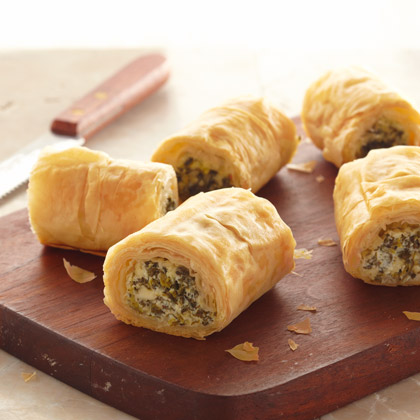 Make Ahead Spinach Phyllo Roll-Ups
