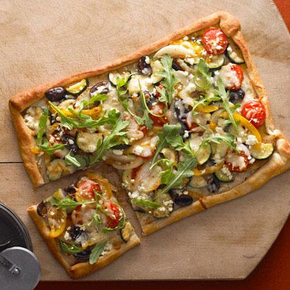Rustic Veggie Pizza Recipe