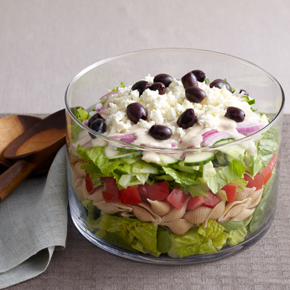 Layered Greek Salad for a CrowdRecipe