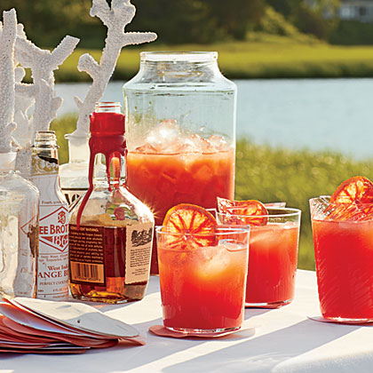 Blood Orange-Bourbon Coolers