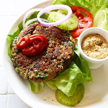 Lentil Veggie Burgers Recipe