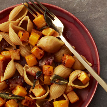 <p>Pasta with Bacon, Squash and Sage</p>