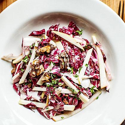 Radicchio Waldorf Salad with Cider Dressing