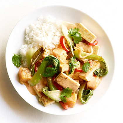 Red Curry Tofu with Fall VegetablesRecipe