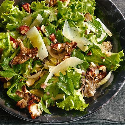 Roasted Mushroom Salad with Hazelnuts