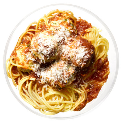 <p>Spaghetti with Turkey Meatballs</p>